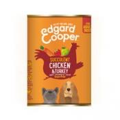 Edgard & Cooper Adult - Kip & Kalkoen - Blik 400 gr