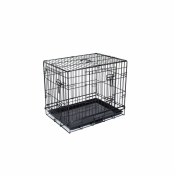 Hondenbench 2-Deurs Zwart 60x43x52 cm