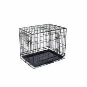 Hondenbench 2-Deurs Zwart 91x55x65 cm