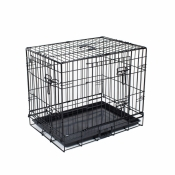 Hondenbench 2-Deurs Zwart 106x69x79 cm