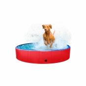 Hondenzwembad Antislip 120x30cm Rood/Blauw