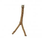 Houten Zitstok met Schroefdraad 20 cm